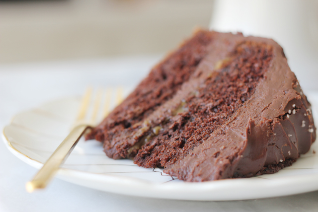 chocolate cake with salted caramel and fleur de sel | { fleur de sel }