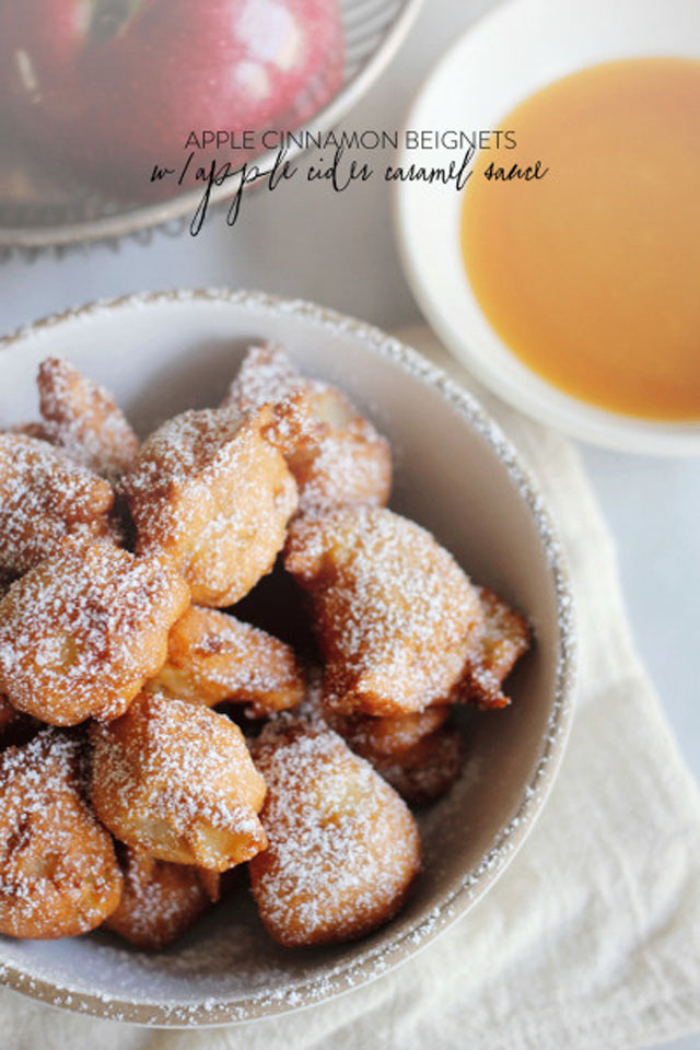 ... for apple cinnamon beignets with apple cider caramel dipping sauce